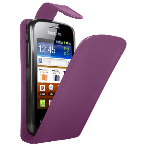 purple-leather-vertical-case-for-samsung-galaxy-y-duos-gt-s6102-flip-phone-pouch-cover-skin-2-screen