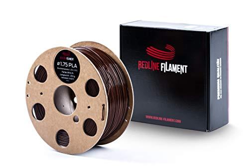 Filament 1.75 PLA 1kg für deinen 3D-Drucker - Hartkartonspule - Premium Qualität aus Holland (1,75mm, Braun)
