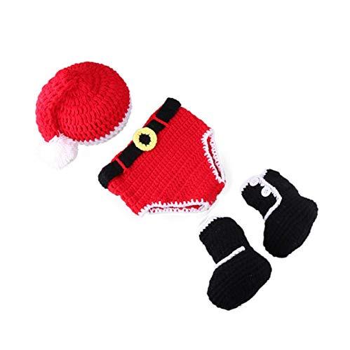 Für Monate 03 Kostüm Neugeborene - Rolypolybaby Nützliche Gegenstände Neugeborenes Baby Kleinkinder häkeln gestrickt Weihnachten Kostüm Fotografie Requisiten (0-3 Monate)