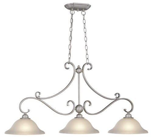 Vaxcel PD35413BN Monrovia 3 Light Island Light, Brushed Nickel Finish by Vaxcel - Light Nickel Island