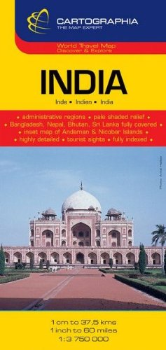India Country Map 1: 3,750,000: Cartographia Map Collection (Michelin National Maps S.) por Cartographia