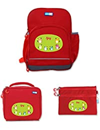 UniQBees Combo Pack - Personalised School Bag, Lunch Bag & Pouch (Class 1 & 2-Cats)