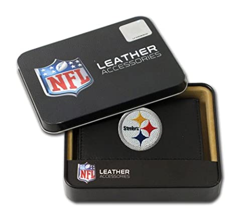 NFL Pittsburgh Steelers Embroidered Genuine Leather Trifold Wallet