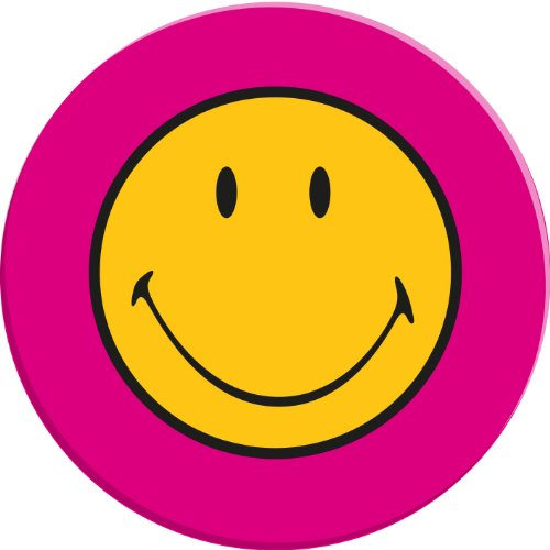 Zak Designs 6187-0312- Assiette Ronde Mélamine Framboise Diamètre: 25 cm Smiley