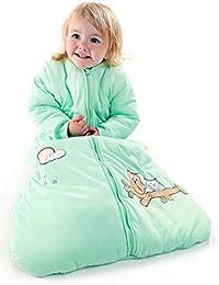 Schlummersack Baby Winter Schlafsack Langarm 3.5 Tog - Eule mintgrün Jersey - erhältlich in verschiedenen Grössen: von Geburt bis 3 Jahre