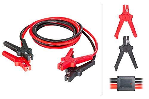 Hella 8KS 236 691-001 Starthilfekabel, 12V/24V, 4,5 Meter, Überspannungsschutz, inkl. Aufbewahrungstasche