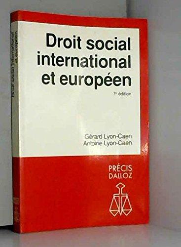 Droit social international et européen par Gérard Lyon-Caen