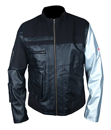 Civil War Winter Soldier Leather Jacket- Perfect Halloween Costume- ()