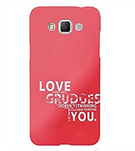Love and Grudge Quotes 3D Hard Polycarbonate Designer Back Case Cover for Samsung Galaxy Grand 3