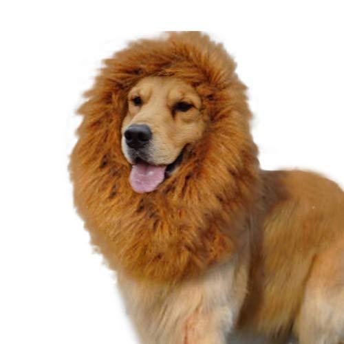 Ogquaton Faux Lion Perücken Mähnenhaar Haustier Katze Hund Kostüm Halloween Cosplay Haarschmuck Festival Party Kostüm Kleidung für Tier Cosplay, lustige Streich zufällig langlebig und nützlich (Lustige Tier Kostüm Streiche)