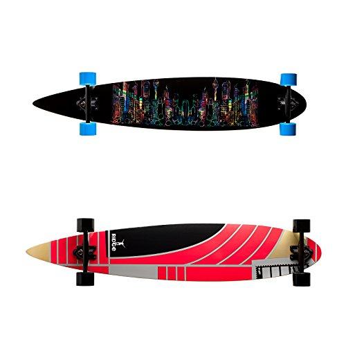 Ridge 46' Pintail Longboard Principiante Skate Slalom Downhill Cruiser 113cm