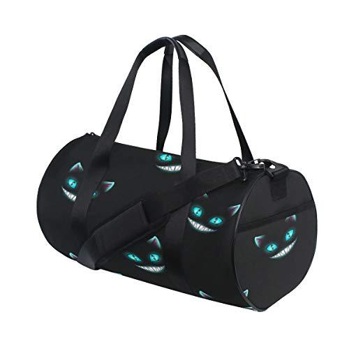 atze lächeln Gesicht benutzerdefinierte leichte große Yoga Gym Totes Handtasche Reise leinwand seesäcke mit Schulter Crossbody Fitness Sport gepäck für mädchen männer Frauen ()