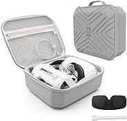 AMVR - Custodia da viaggio piccola e portatile per Oculus Quest 2, per riporre cuffie da gioco VR e controller