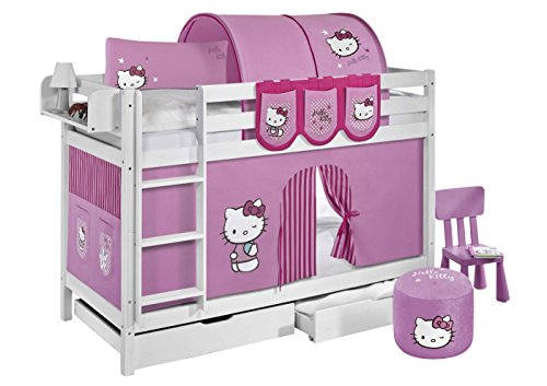 Etagenbett Hochbett Spielbett Kinderbett Jelle 90x200cm Vorhang : ᐅᐅ】 tunnel hello kitty rosa fuer hochbett spielbett und