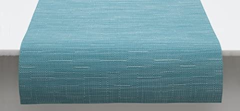 Chilewich Teal Bamboo Table Runner 100101-029 , 72x14 by