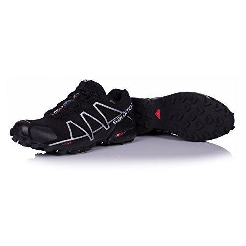 Salomon Herren Speedcross 4 GTX Trailrunning-Schuhe schwarz / silber