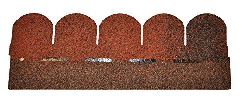 Bitumenschindeln Dachschindeln Biber Schindel Glasvlies Dachpappe Bitumen rot 3 m²