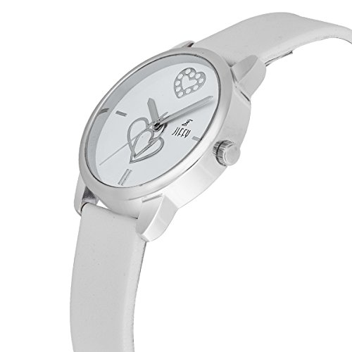 Jiffy New Casual Watch With White Dial In Leather Strap For Girls & Women