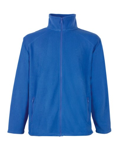 Full Zip Fleece von Fruit of the Loom S M L XL XXL XXL XXL verschiedene Farben Royal