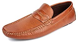 Spunk Mens Tan Synthetic Loafers - 9 UK