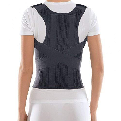 Corrector Postura y Soporte para Espalda- corrección de postura Large Negro