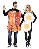 Horror-Shop Traje de pareja de huevo frito y tocino One Size