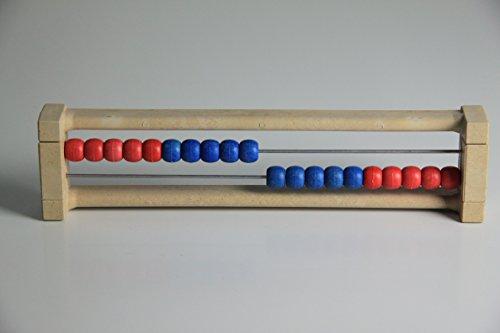 "20`er Rechenrahmen rot-blau, Abakus, student`s abacus, System""Kühnel"""