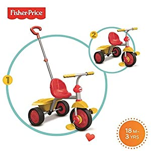 Fisher-Price Smart Trike 2 en 1 Paseo a Paseo Trike - Rojo y Amarillo NO Cubierta
