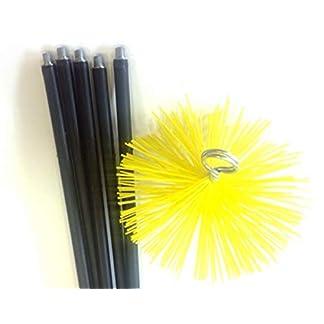 KIBROS 4KIT3SR – Kit de remonaje con erizo (nailon, diámetro de 200 mm), color amarillo y negro