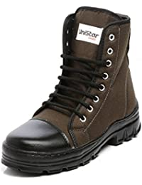 Unistar PU High Ankle Extra Cushion Inner Sole Jungle Boots