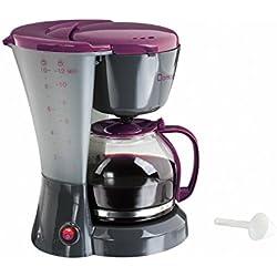 Domoclip DOM163GVI Cafetière Électectrique Bicolore Gris/violet 1,2 Litre, 800