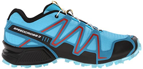Salomon Speedcross 3, Scarpe da Trail Running Donna, Taglia Unica Blu (Blau (Azurin Blue/Fog Blue/Radiant Red))