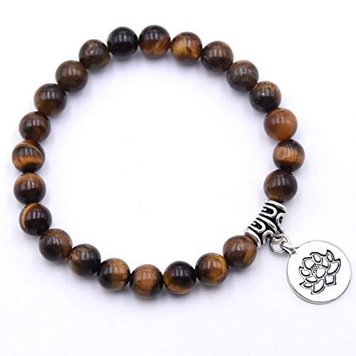 Armband naturstein 8mm Amazon perlen Lotus Yoga perlen Armband für Frauen Freundschaft ()