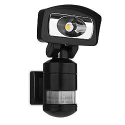 Smartwares FSL-80114 LED Fluter mit Bewegungserkennung und Verfolgunsfunktion, 1200 Lumen, 16 Watt, 15 x 17 x 27 cm, Plastik, W, Schwarz