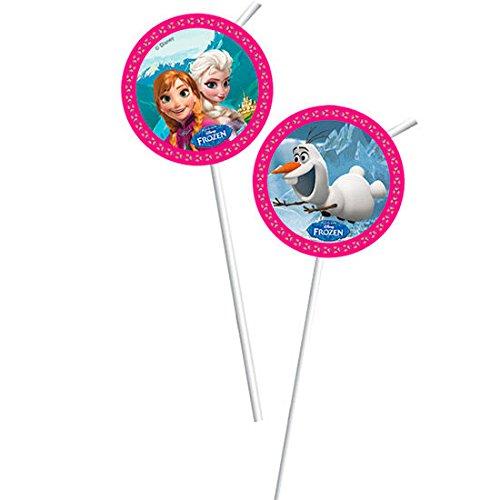 Disney Frozen Party - Unique Party Disney Frozen Party Trinkhalme,