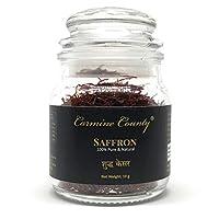Carmine County Premium Saffron Round Jar Sealed Pack