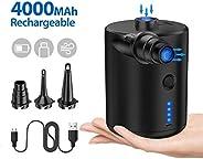 Pompa Elettrica Ricaricabile, 2 in 1 Gonfiando Sgonfiando Pompa Elettrica per Materasso Gonfiabile, Gonfiatore