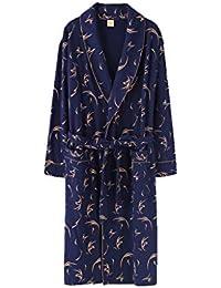 Xin Yu Yue Firm Batas de Vestir para Hombre Pijamas Ropa de Dormir Vestidos de Jersey
