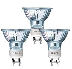 Philips Twistline Lot de 3 spots halogènes GU10 50 W