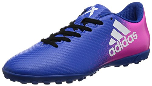 adidas X 16.4 Tf, Chaussures de Football Homme Blue / FTWR White / Shock Pink
