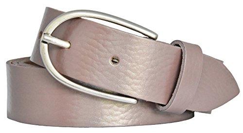 Vanzetti Damen Leder Gürtel Rindleder Metallic Damengürtel rose metallic 30 mm Ledergürtel (110 cm)