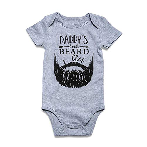wborn Infant Boy Girl Romper Letter Moustache Bodysuit Outfits ()