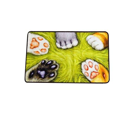 Antimikrobielle Waschen (SENG Katzenkralle Teppichmatten Nette Badematte Antimikrobielle Feuchtigkeit Teppich Waschen Geeignet Für Kreative Kinder Zimmer Schlafzimmer Eingang Rechteck 50 * 80CM)