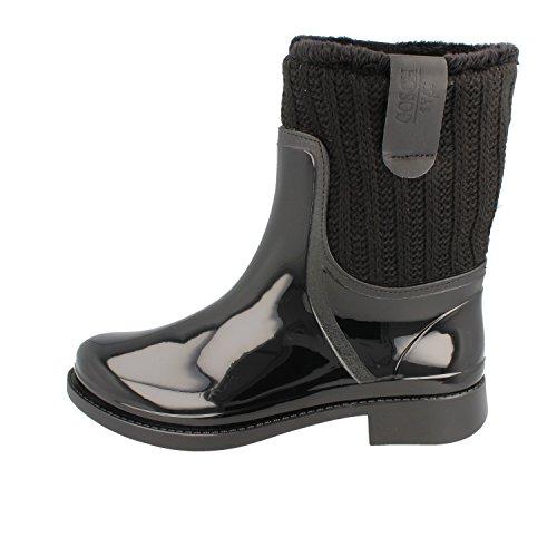 """Gosch Shoes Sylt - Damen Gummistiefel """"Sandbank"""" gefüttert black - made in italy Black"""