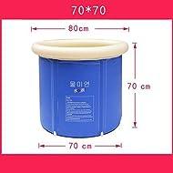 Falten Badewanne Bad Badewanne Erwachsene Badewanne aufblasbare Badewanne dicke Kunststoff Badewanne Wanne ( größe : 70*70cm )