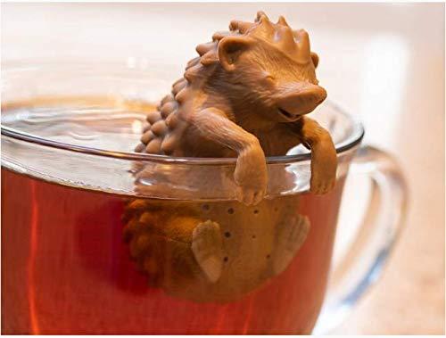 HelpCuisine® 1st. teesieb teeei teefilter Tea Infuser teekugel in Einer Igelform aus hochwertigem Silikon 100% BPA frei.