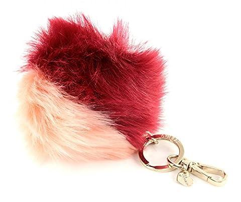 GUESS Pom Pom Gifting Key Fob Charm Claret Cameo