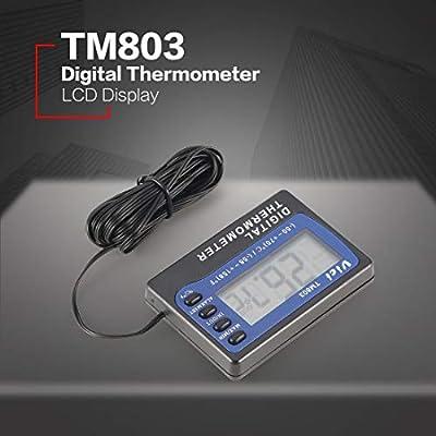 TM803 Digital LCD Display Thermometer Kühlschrank Gefrierschrank Aquarium Medizin Box Temperatursensor Meter Alarm Thermograph