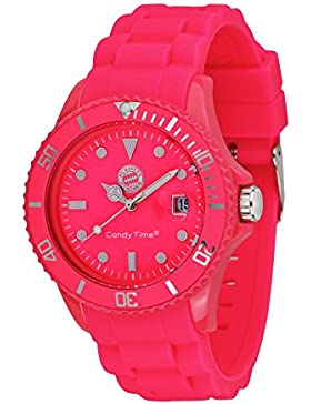 MADISON NEW YORK Unisex Uhr Candy Time® for FC Bayern München Neon Pink Onesize