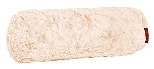 Fluffy Nackenrolle ca. 15x40 cm kuschelweicher Plüsch in Felloptik in bunter Farbauswahl 1 Stück 071 nude-beige) (Gefüllte Nackenrolle Kissen)